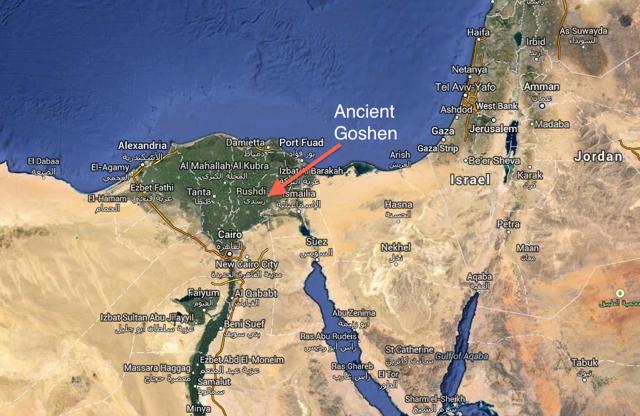 Gen Ff Living In Goshen Imperfect Pastor - Map of egypt goshen