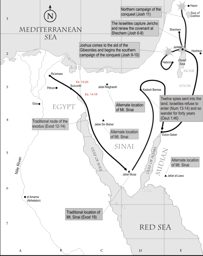 Exodus Israelite journey in desert