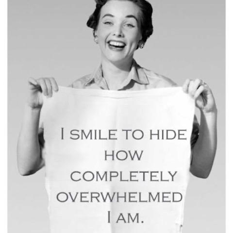 smile overwhelmed